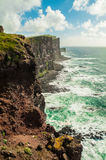 Sea cliffs in Orkney, Scotland, UK. Royalty Free Stock Photography