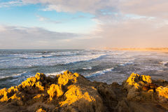 Sea cliffs view city buildings panorama nature beauty. Stock Photography