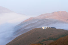 The sea of cloud. In the third highest peak in Hong Kong royalty free stock photography