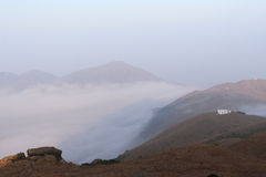 The sea of cloud. In the third highest peak in Hong Kong royalty free stock images