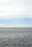 Sea at cloud day. Royalty Free Stock Photography