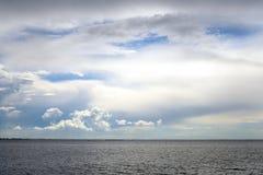 Sea at cloud day. Royalty Free Stock Image