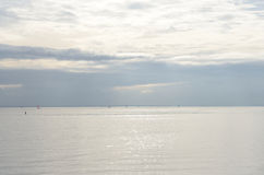 Sea by cloud day. Stock Photography