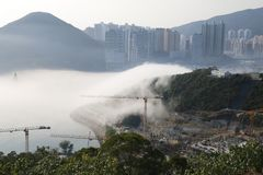 Sea of cloud in Hong Kong Ocean Park royalty free stock photography
