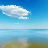 Sea and cloud over it Royalty Free Stock Photos