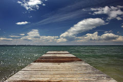 Sea and clouds. Picture was taken in Croatia at seaside Royalty Free Stock Photography