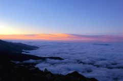 Sea of clouds Royalty Free Stock Image