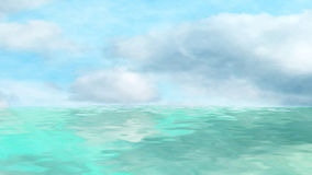 Sea and clouds Royalty Free Stock Image