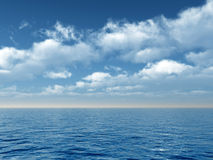 Sea and clouds Stock Image