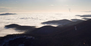 Sea of clouds. Royalty Free Stock Photography