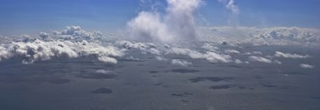 Sea clouds. Sea, clouds, shadows and sky Stock Images