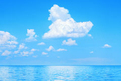 Sea and clouds Royalty Free Stock Photo