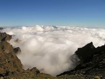 Sea of clouds from above Royalty Free Stock Image