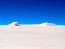 Sea of clouds, aerial photography Royalty Free Stock Photography
