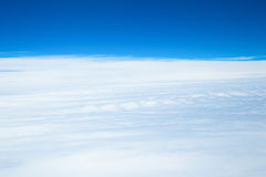 Sea of clouds, aerial photography Stock Photos