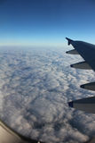 Sea of clouds from an airplane Stock Photo