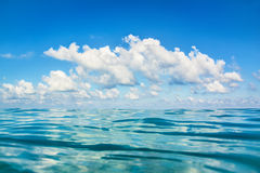 Sea and clouds Stock Images