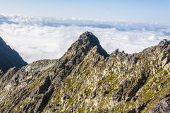 Sea of clouds behind the ridge Stock Photography