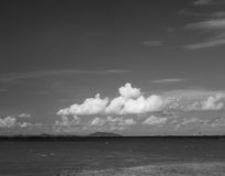 Sea and clouds in black and white Stock Photography