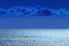 Sea with clouds Royalty Free Stock Photo
