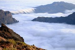 Sea of clouds. Canary islands royalty free stock images