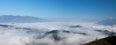 Sea of clouds in Gipuzkoa Royalty Free Stock Photography