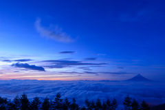 Sea of Clouds and the Mt. Fuji Royalty Free Stock Photography