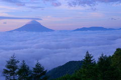 Sea of Clouds and the Mt. Fuji Royalty Free Stock Photo