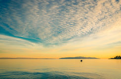 Sea and clouds Royalty Free Stock Photos