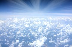 Sea of Clouds over Blue Sky at Daytime Royalty Free Stock Photo