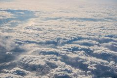Sea of clouds in the sky stock image