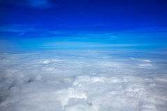 Sea of clouds sky aircraft view Royalty Free Stock Photos