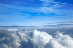 Sea of clouds sky aircraft view Stock Photography