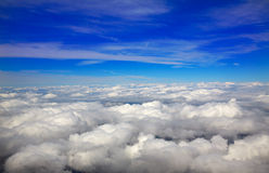 Sea of clouds sky aircraft view Stock Image