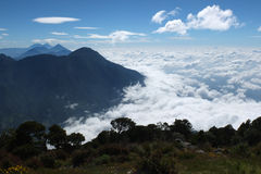 Sea of clouds Stock Image