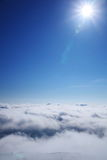 Sea of clouds and sun Royalty Free Stock Photo