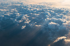 Sea of clouds with sunbeam in the morning Royalty Free Stock Photography