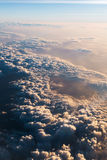 Sea of clouds with sunbeam in the morning Royalty Free Stock Photos