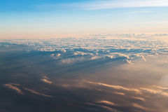 Sea of clouds with sunbeam in the morning Stock Photos