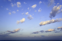 Sea, Clouds, Sunrise Stock Photography