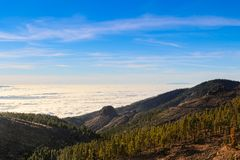 Sea of clouds in tenerife Stock Image