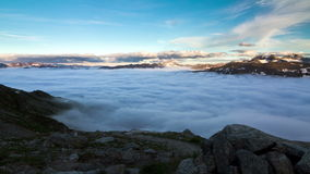 Sea of clouds time lapse stock video