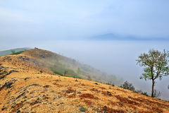 The sea of clouds under mountain Royalty Free Stock Photography