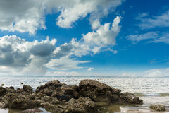 Sea in cloudy day Royalty Free Stock Photography