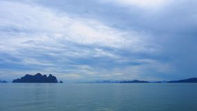 Sea in the cloudy day. Many people around the world come to Thailand sea Royalty Free Stock Photo
