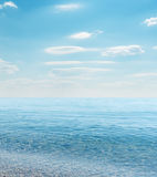 Sea and cloudy sky Royalty Free Stock Images