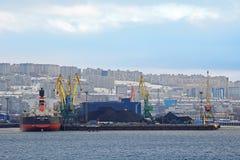 Sea coal terminal Royalty Free Stock Photos