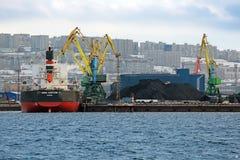 Sea coal terminal Stock Photos