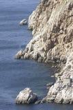 Sea coast. Rocky coast near settlement Balaklava. Crimea Stock Photo