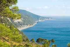 Sea coast. On Black sea Royalty Free Stock Photo